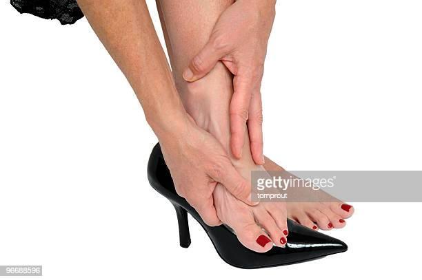 Frau mit schmerzenden Füße