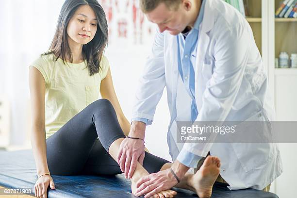 Woman with an Ankle Injury