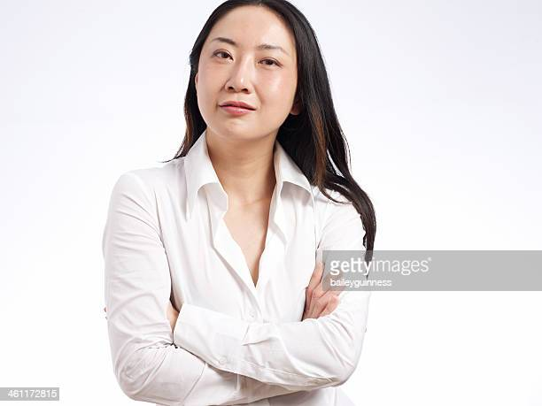 Woman with arms crossed, portrait
