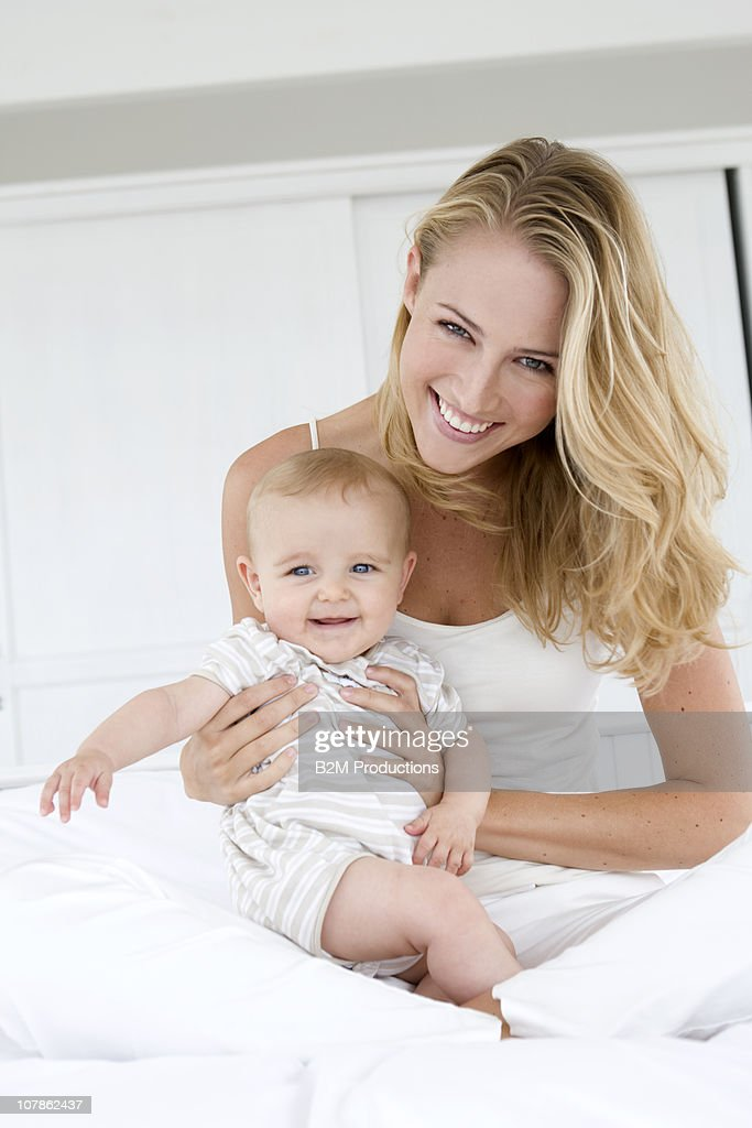 Woman with baby, Portrait : Stock Photo