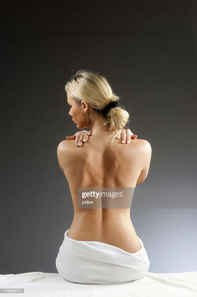 woman with backache : Stock Photo