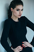 Woman with beautiful earings
