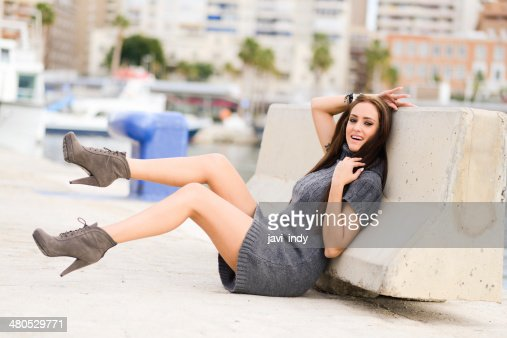 Woman with beautiful legs and high heels : Stock Photo