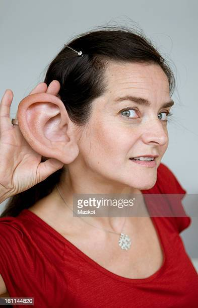 Woman with big ear