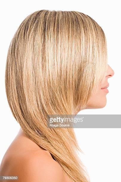 Frau mit blond hair