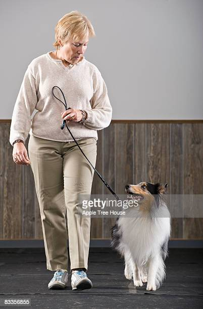 Woman with Blue Merle Sheltie
