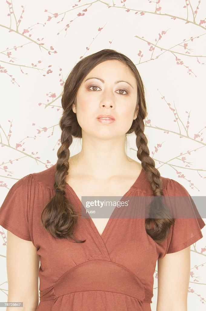 Woman with Braids : Stock Photo