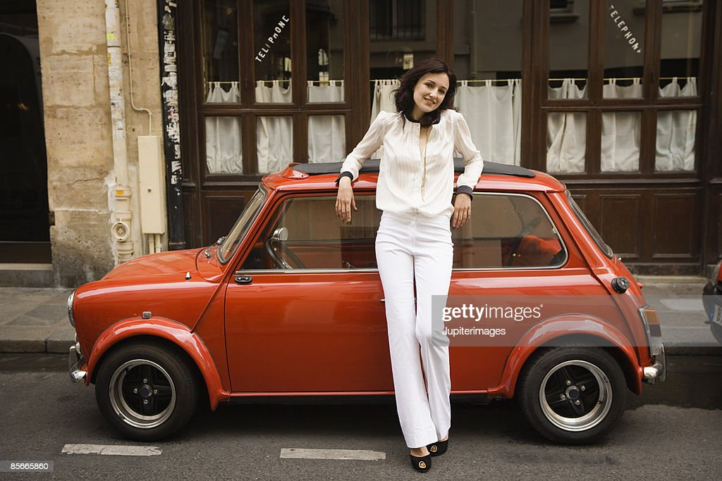Woman with car : Stock Photo