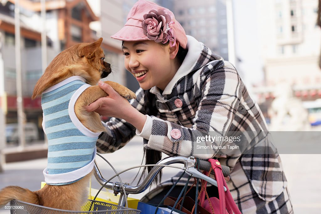 Woman with Chihuahua