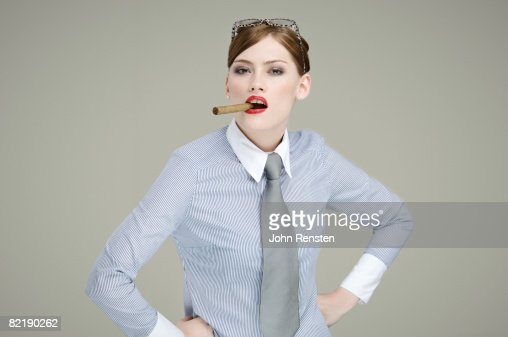 woman with cigar : Stock Photo