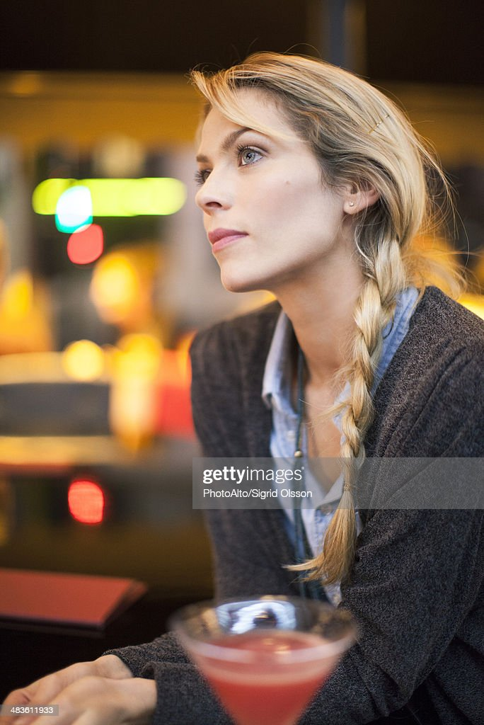 Woman with cocktail : Stock Photo