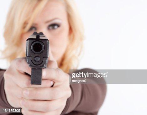 Frau mit verdeckten erlaubt : Stock-Foto