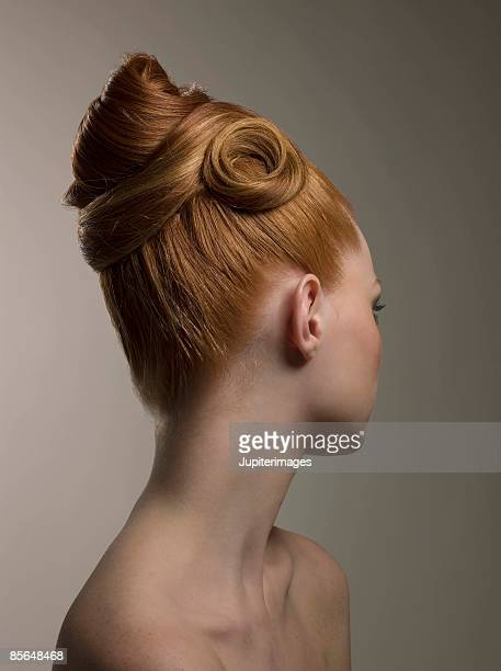 Woman with contemporary hairstyle