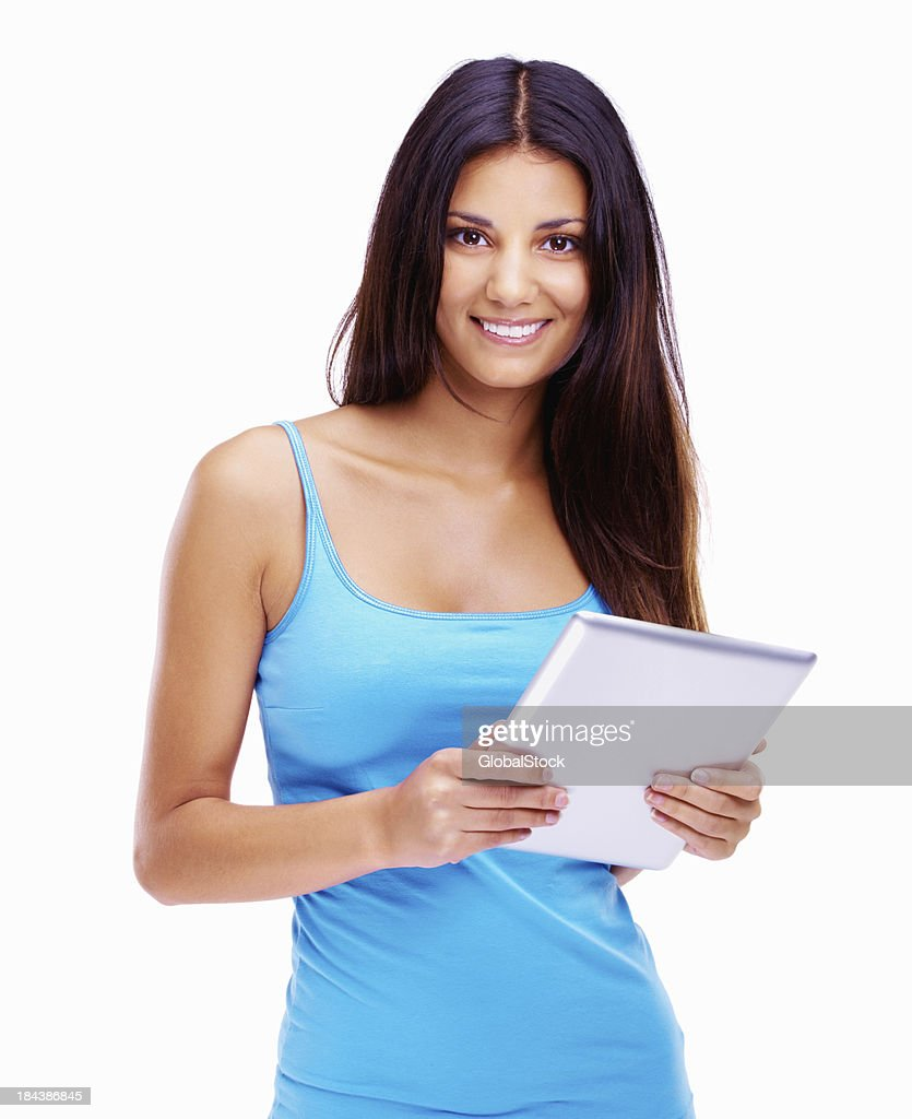 Woman with digital tablet : Stock Photo