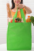 Woman With Eco-friendly Tote Bag