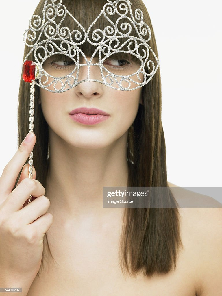 Woman with eye mask : Stock Photo