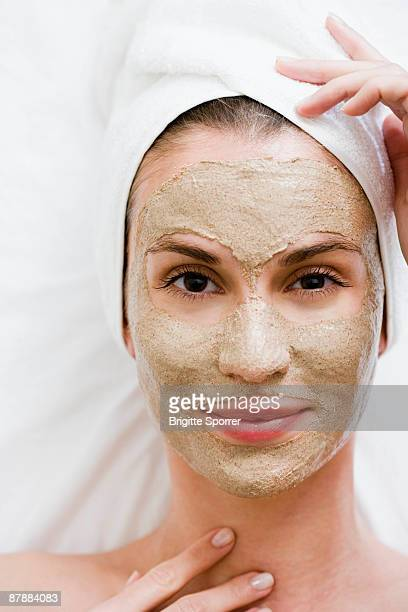 Woman with face mask