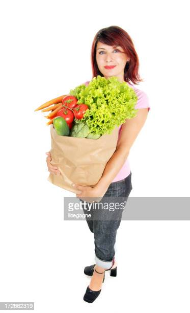 Woman with fresh vegetables