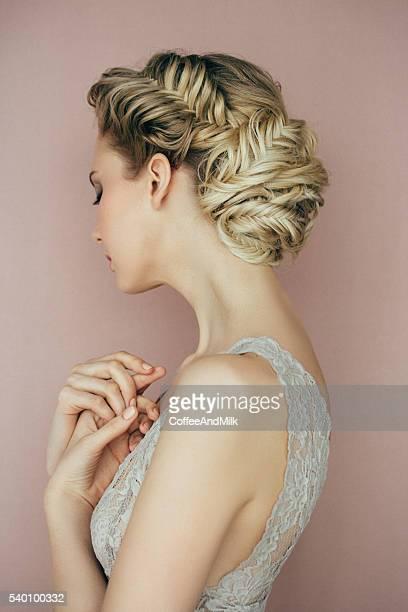 Mujer con peinado