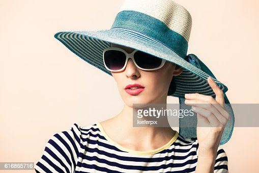 Woman with hat : Stock Photo