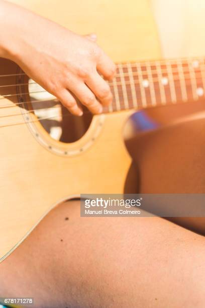 Woman with her Spanish guitar