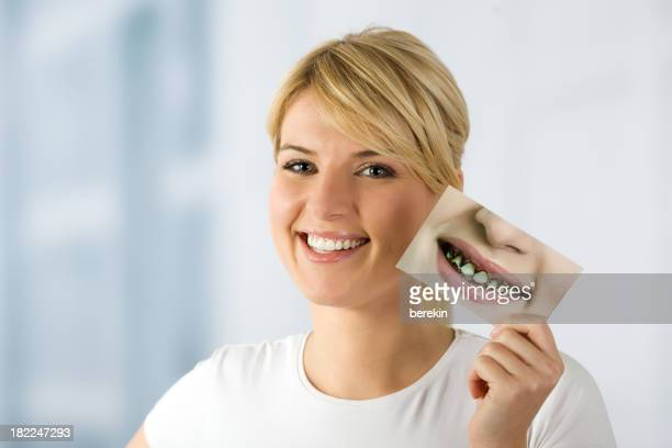 woman with image of rotten teeths