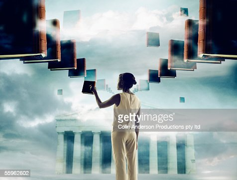 woman with infinite knowledge : Stock Photo