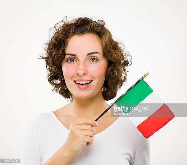 Woman with Italian flag