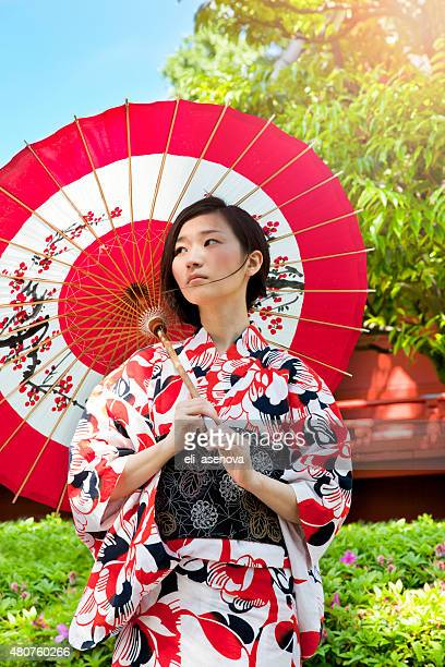 女性、着物を東京,日本