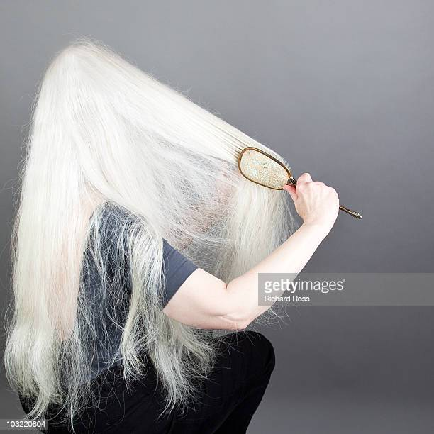 Woman With Long White Hair