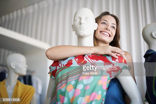 Woman with mannequin : Photo