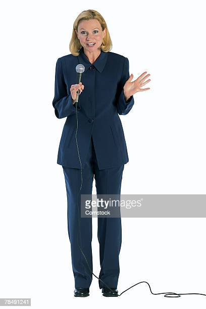 Woman with microphone