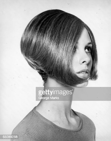 Woman with modern haircut : Stock Photo