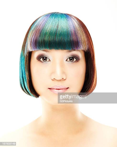 Woman With Multi-colored Hair