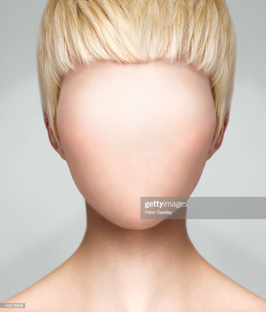 Woman with no face : Stock Photo