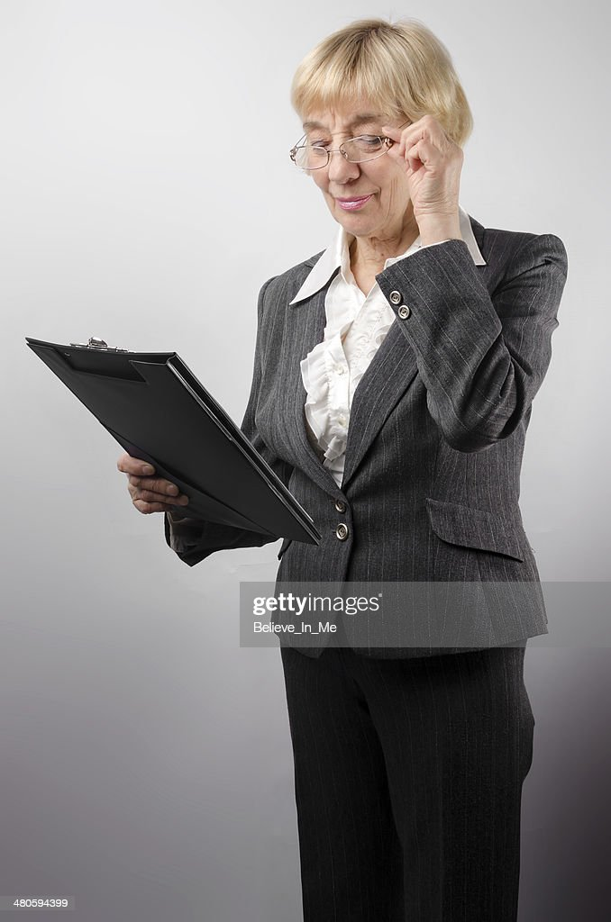 Woman with notepad : Stock Photo