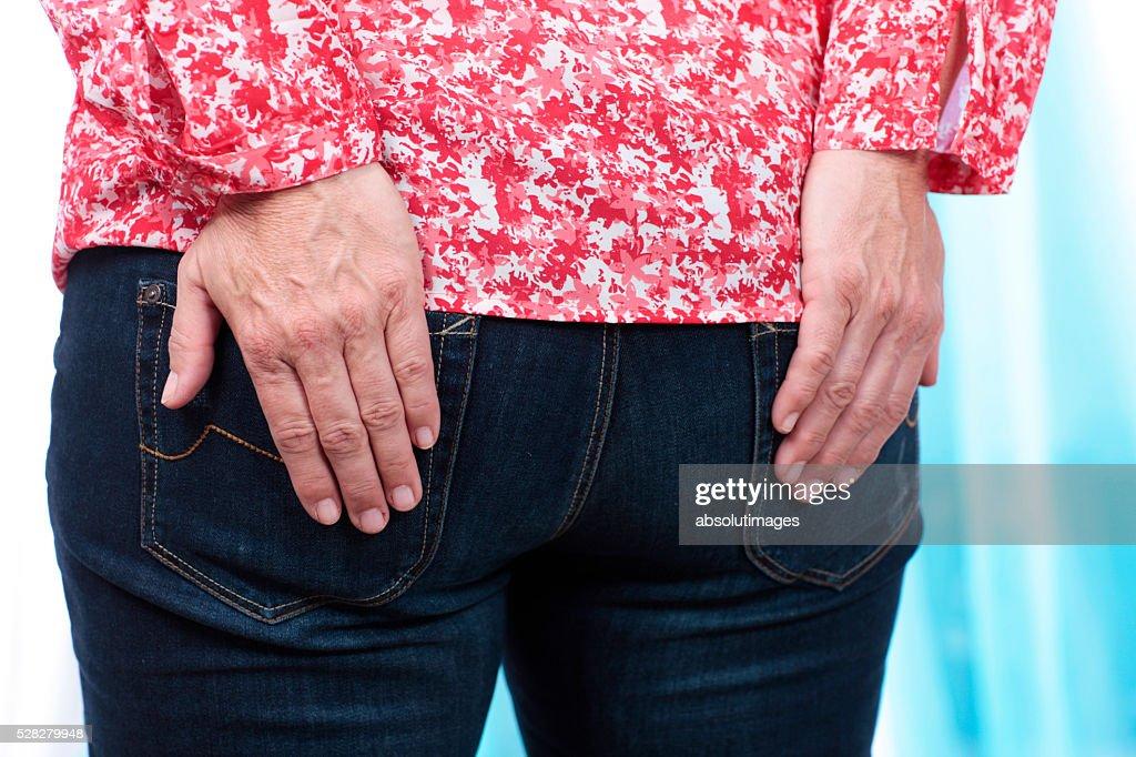 Mature women anus
