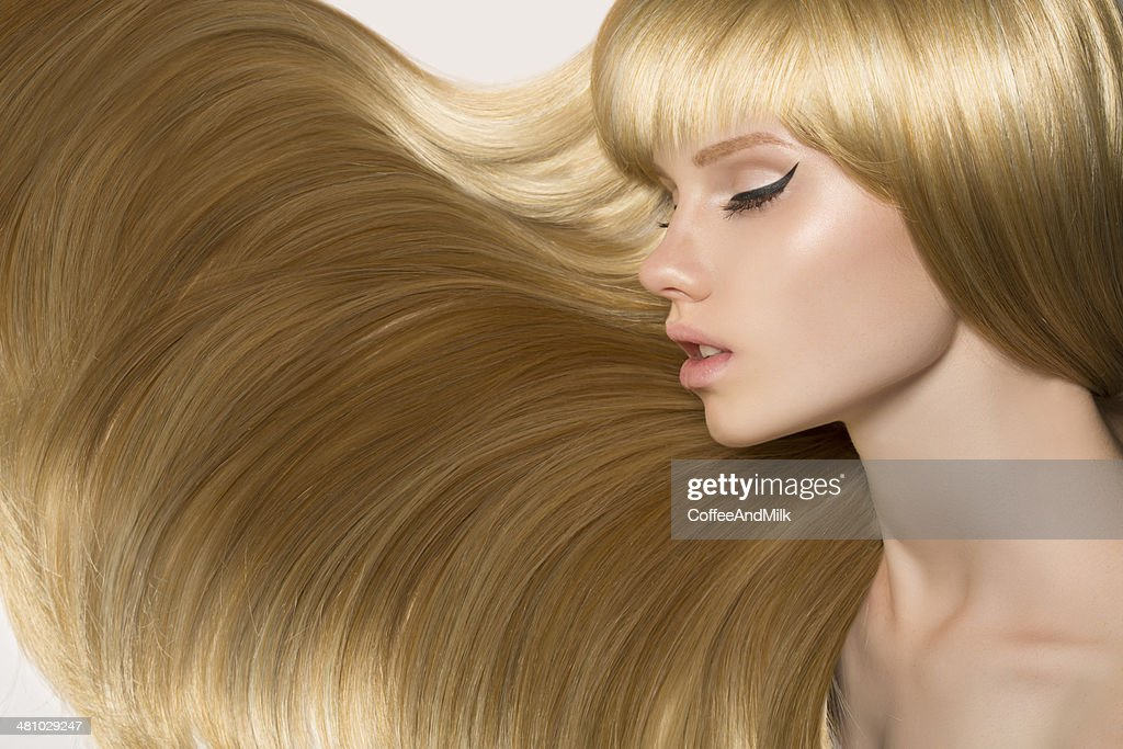 Woman with perfect hair