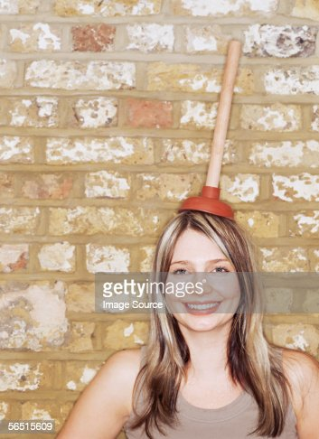 Woman With A Plunger 80