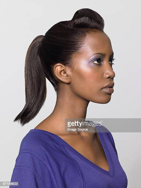Woman with quiff hairstyle