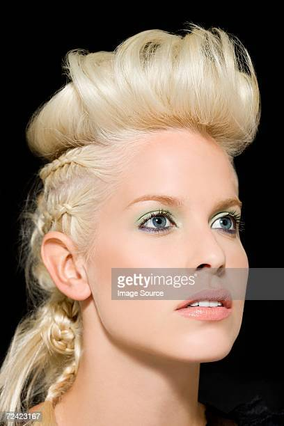 Woman with quiff