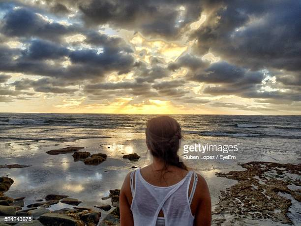Woman With Sea In The Background