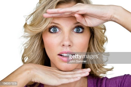 Woman With Shocked Expression Stock Photo   Getty Images  Woman With Shoc...