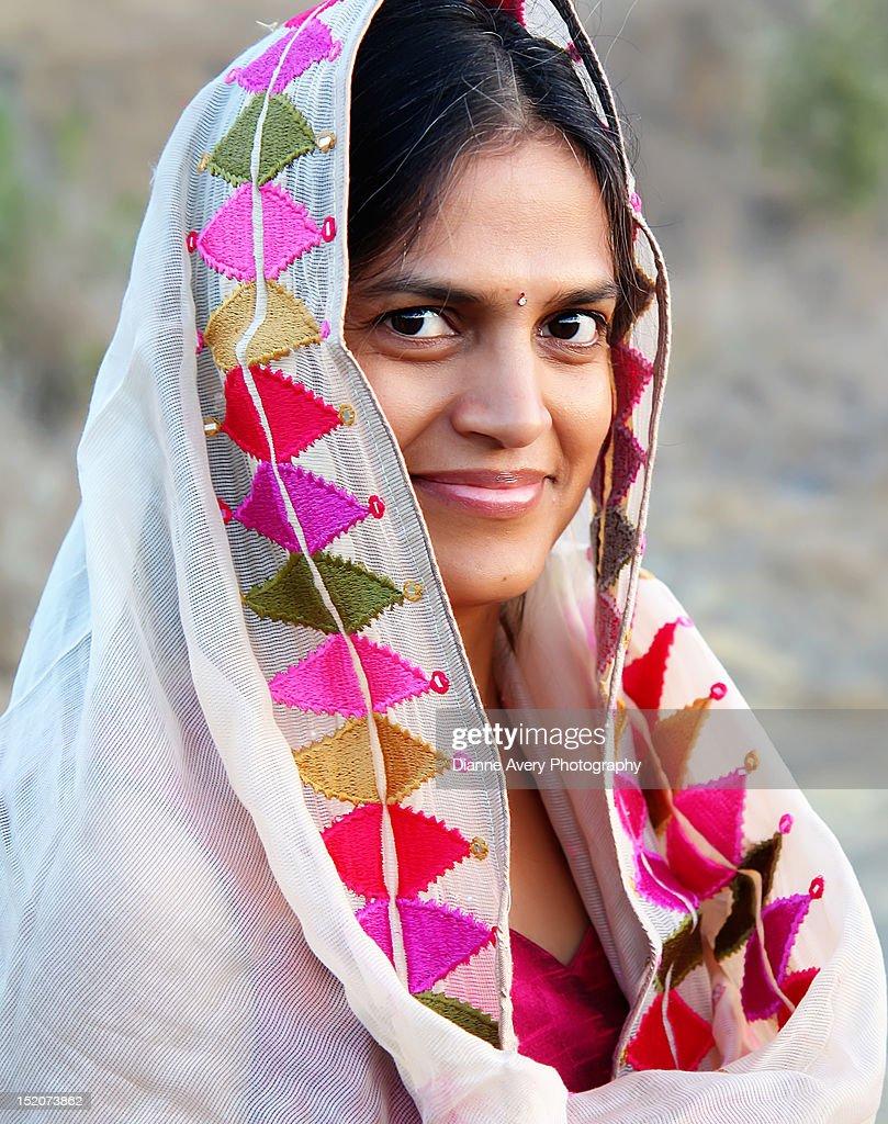 Woman with slight smile : Stock Photo