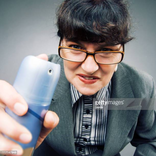 Woman with spray can