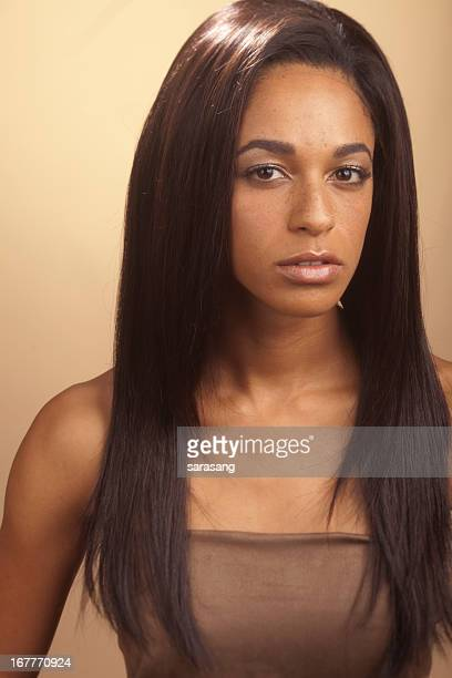 Woman with straight hair, wig