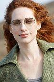 Woman with sunglasses (portrait)
