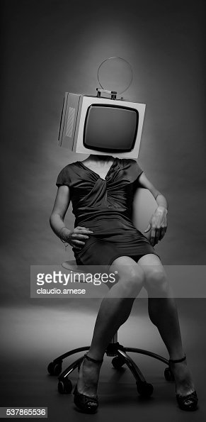 Woman with Television