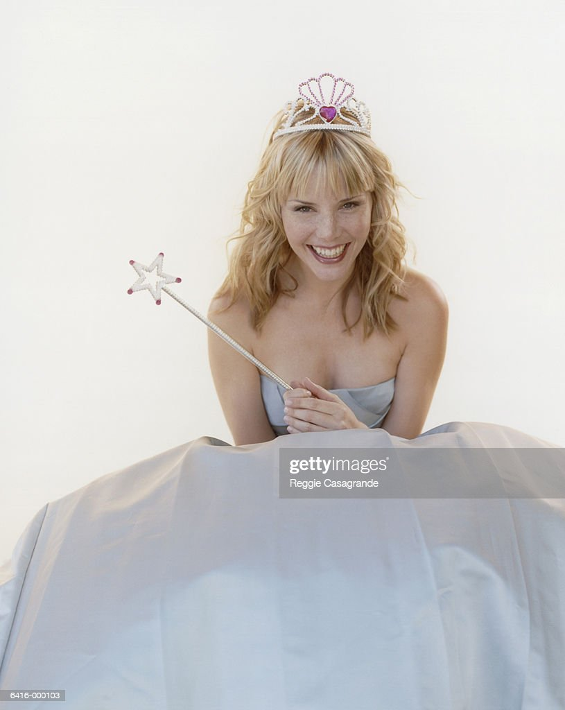 Woman with Tiara and Wand