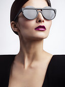 Woman with trendy eyewear